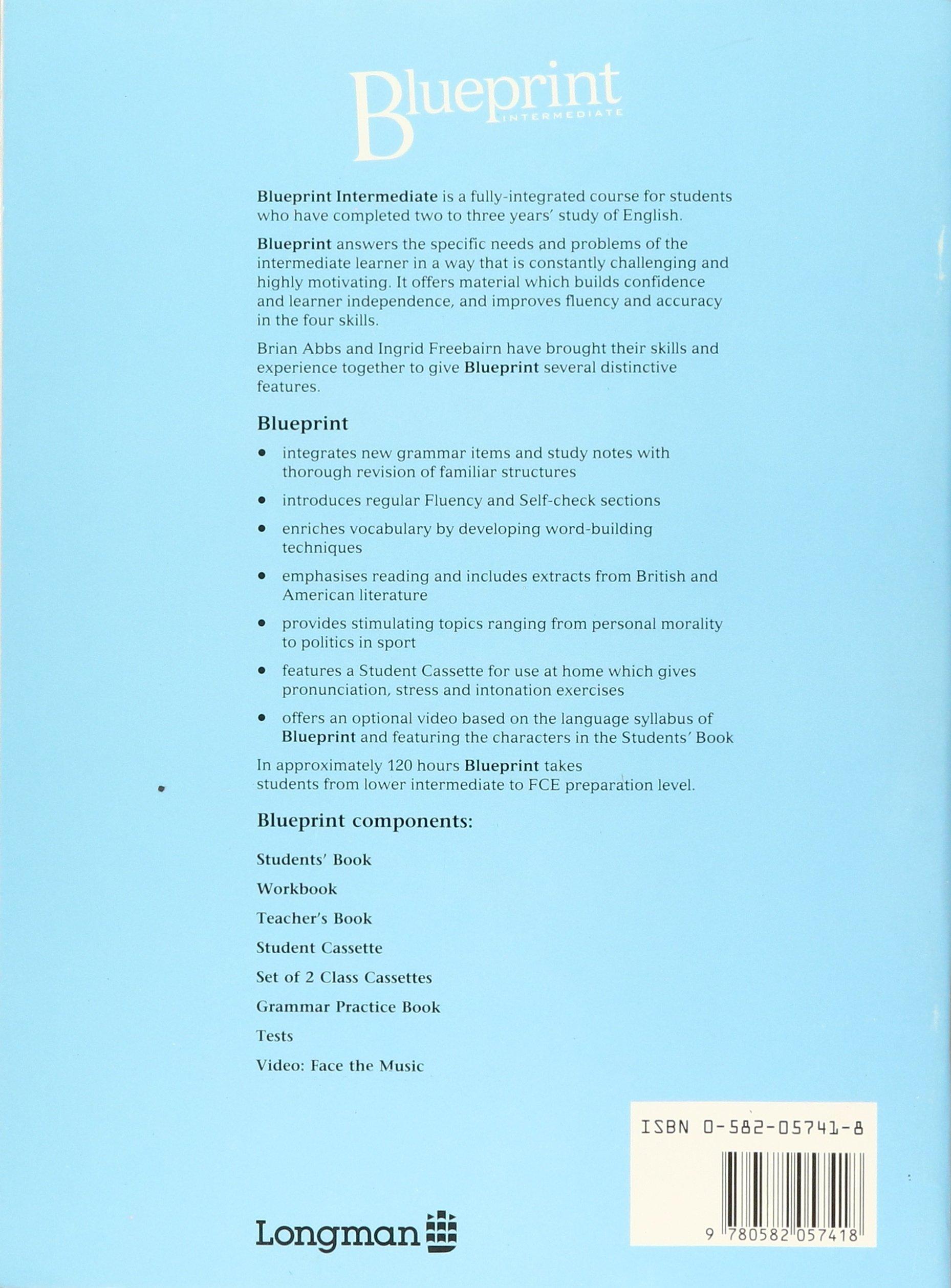 Blueprint intermediate workbook english and spanish edition blueprint intermediate workbook english and spanish edition elaine walker steve elsworth 9780582057418 amazon books malvernweather Gallery