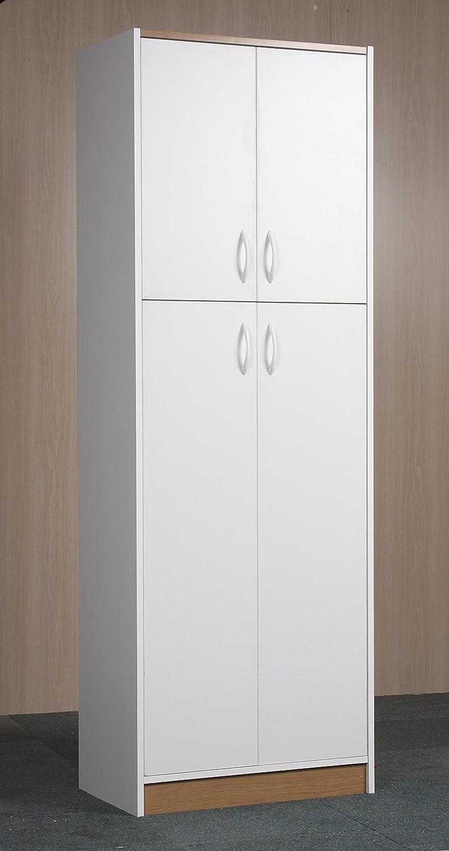 Orion 4 Door Kitchen Pantry Amazoncom Mylex Four Door Pantry Two Fixed And Three Adjustable