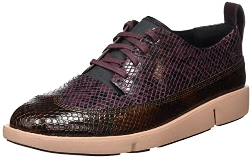 Funny Dream, Zapatos de Cordones Derby para Mujer, Morado (Aubergine Leather), 37 EU Clarks