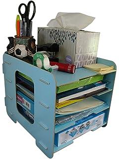 Amazon.com: Organizador de carpetas de escritorio de madera ...