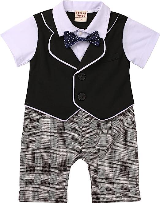 ZOEREA 1 pezzo pagliaccetti bambino vestiti battesimo bimbo estate short  sleeve cotton pagliaccetto 47bd5e1acc8