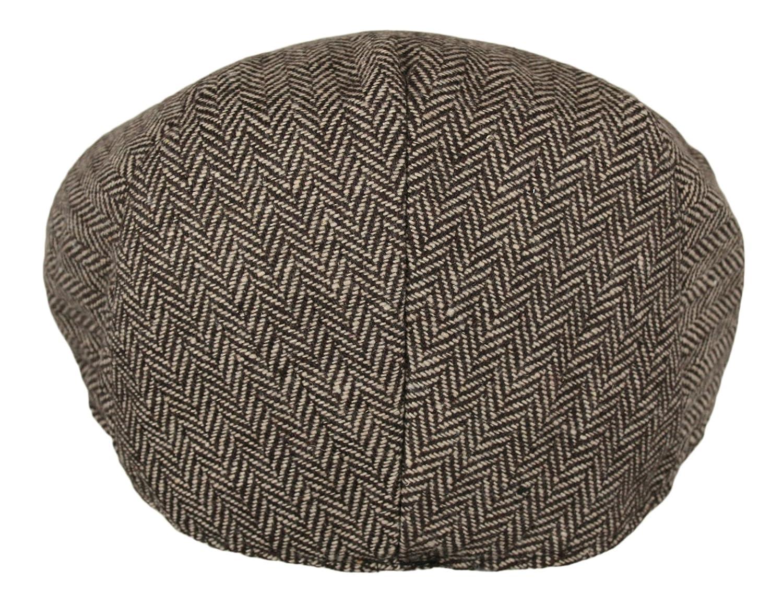 af14a734d3d7b Men's Classic Herringbone Tweed Wool Blend Newsboy Ivy Hat: Amazon.ca:  Clothing & Accessories