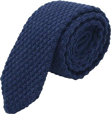 Massi Morino ® Corbata de punto para hombres, corbata cosida a ...