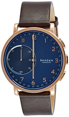 Skagen Reloj Unisex de Analogico con Correa en Cuero SKT1103: Amazon.es: Relojes