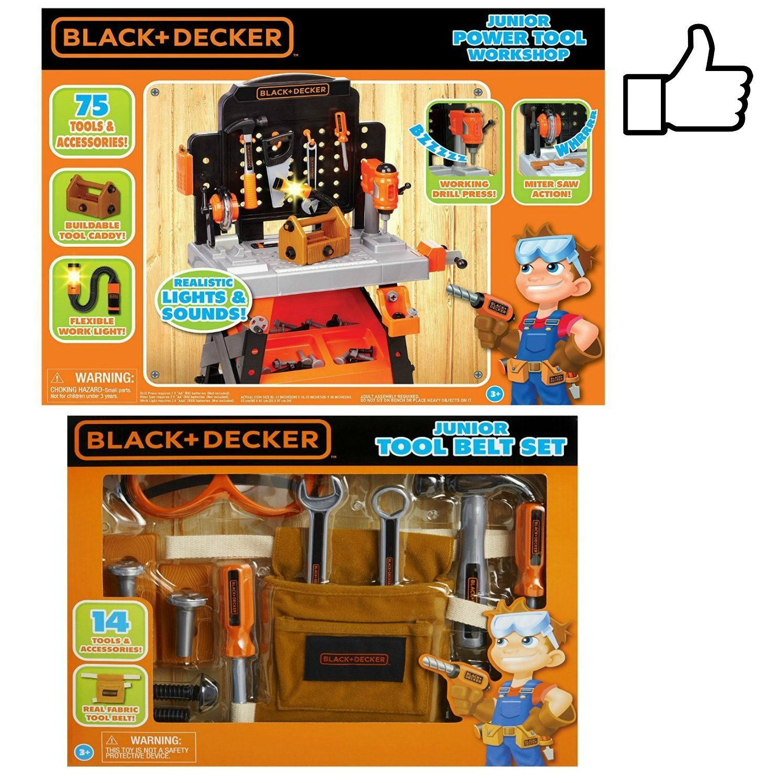 PowerツールWorkshop andおもちゃツールベルトセットバンドル B076BMVVJX