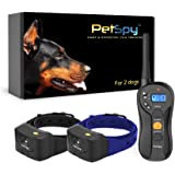 PetSpy P620B Dog Training Shock Collar for 2 Dogs with Vibration, Electric Shock, Beep; Fully Waterproof Remote Trainer…