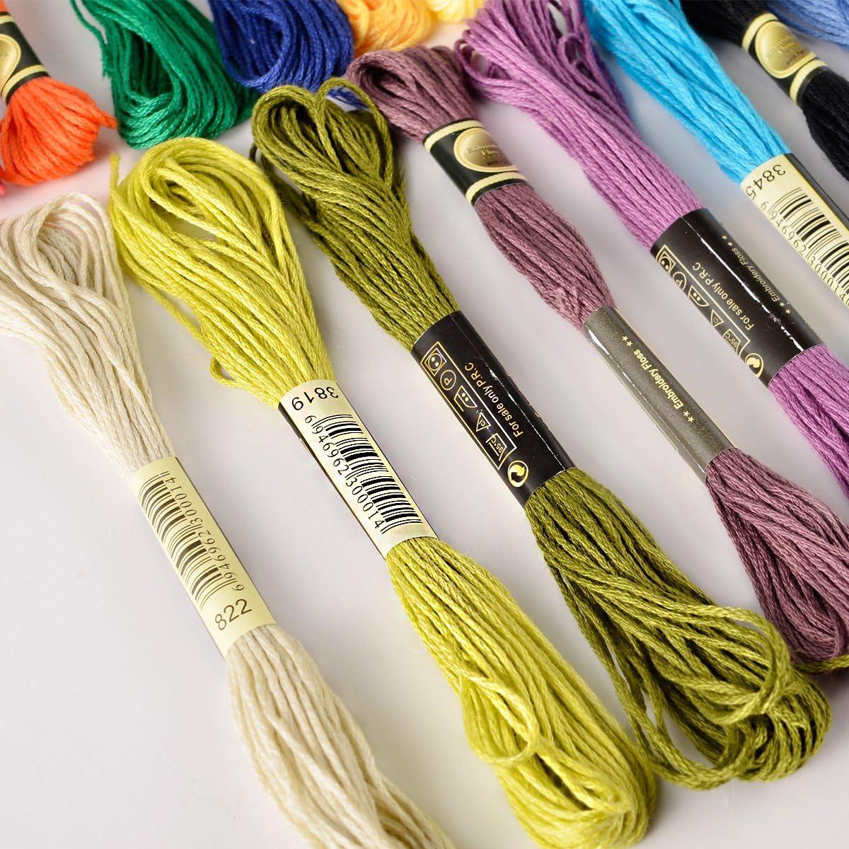 150 Docken Sticktwist Stickgarn N/ähgarne Stickerei 8m 6-f/ädig Multicolor farblich bunt Basteln Megaset