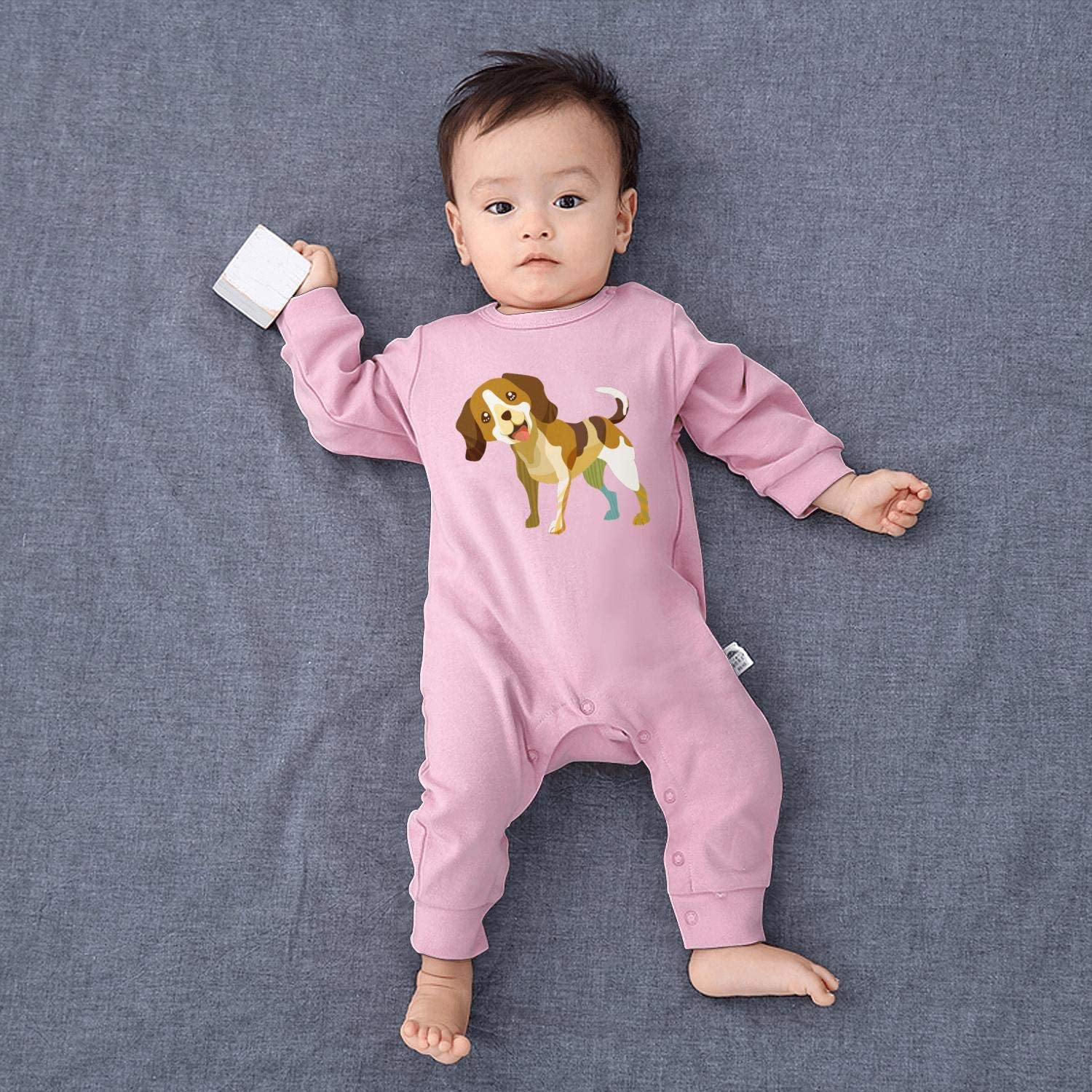 Nature Dog Breed Beagle Pet Lover Footed Pajamas Long Sleeve 100/% Cotton Babys Creeper
