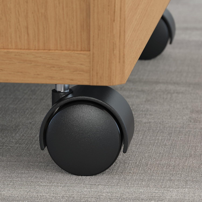Bush Business Furniture Series C 2 Drawer Mobile File Cabinet in Light Oak