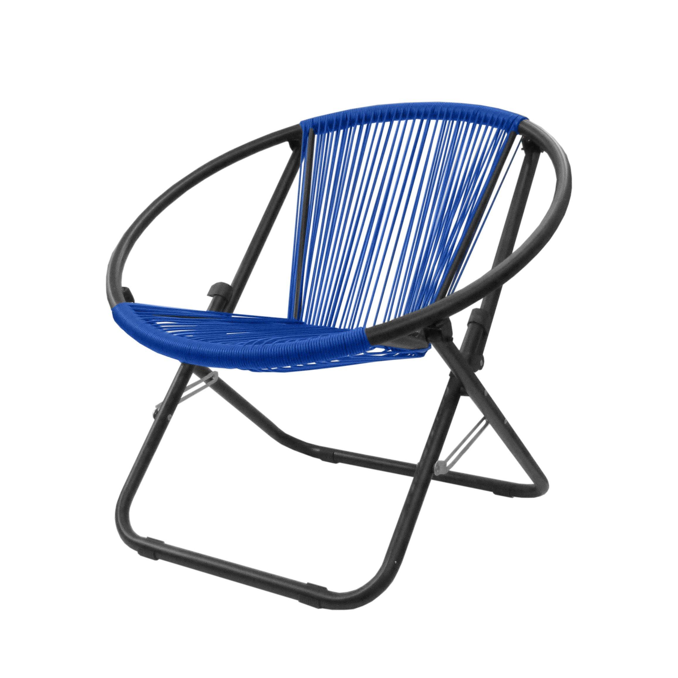 Urban Shop Outdoor Woven Chair, Royal Blue by Urban Shop