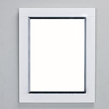 Eviva Evmr412 24x30 Wh Aberdeen 24u0026quot; White Framed Bathroom Wall Mirror  Combination