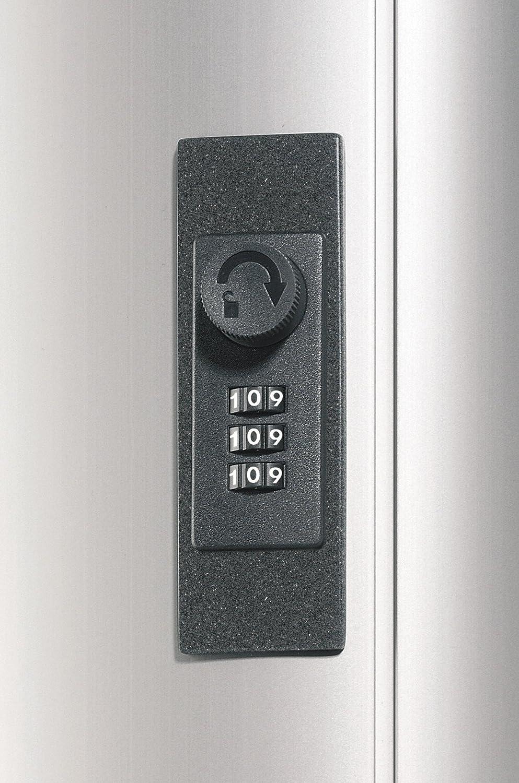 Key Box code 36 DURABLE 196623 Armario para llaves con cerradura de combinaci/ón y capacidad para 36 llaveros color met/álico plateado
