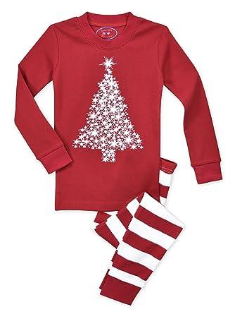 985b238f86 Amazon.com  Sara s Prints Unisex Kids All Cotton Long John Pajamas  Clothing