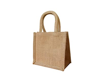 good looking famous brand buy cheap Wholesale Jute Hessian Small Shopping Bags, No. of Bags: 10, Size:  Lunch/Gift Bag (LDX) 20x22x12cm
