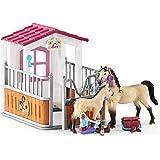 Schleich Box Cavalli Arabi e Addetta Cura Animali, 42369