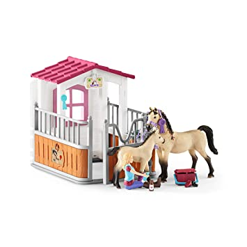 Animals & Dinosaurs Schleich Horse Club Toys & Hobbies English Thoroughbred Horse Toy Figure & Blanket