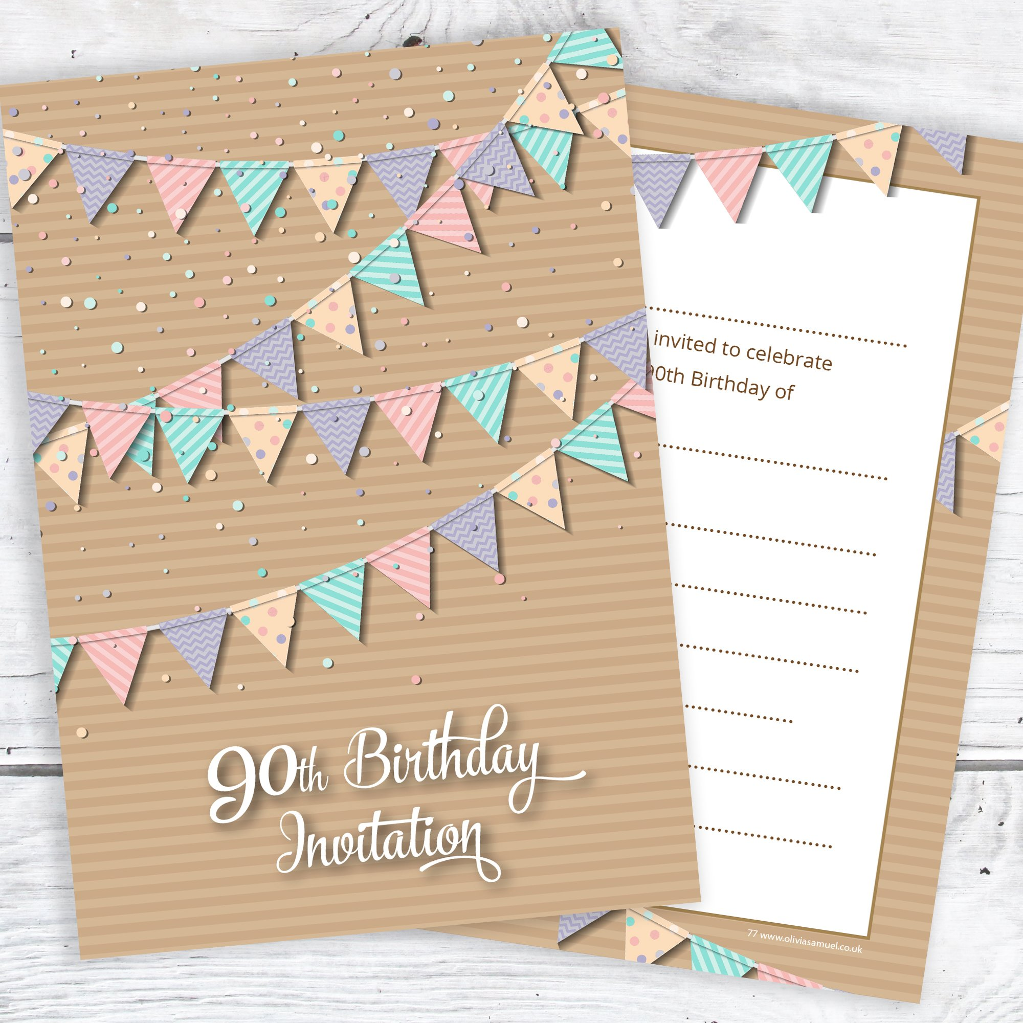 90th Birthday Invitations: Amazon.co.uk