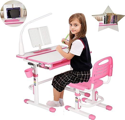 80cm Altura Ajustable niños estudio Conjunto escritorio y silla ...