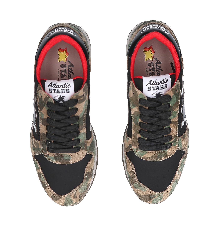 ATLANTIC STARS Womens GEMMAMTN64N Multicolor Leather Sneakers