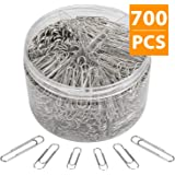 BATTOP 700 Pcs Paper Clips,Paperclips for Office School & Personal Document Organizing Work,Including Paper Clip Assorted Size Small Medium Jumbo/Large Size(28 mm,33mm,50 mm)