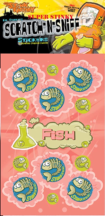 Scratch n sniff stickers fish