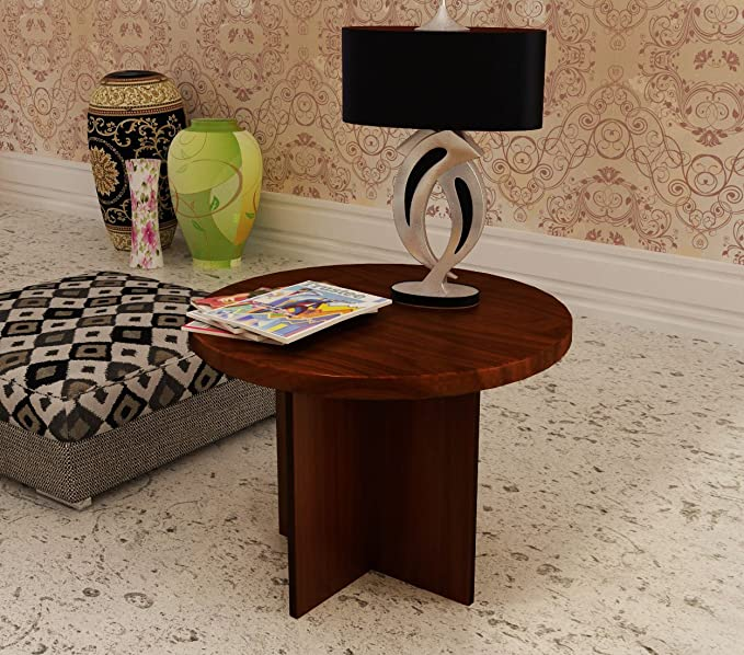 Home Sparkle Corner Table Engineered Wood  Brown  End Tables