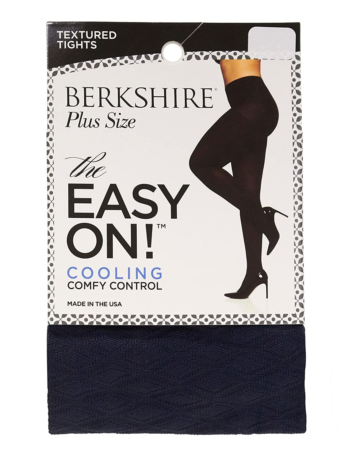 Berkshire Women's Plus Size Easy on Diamond Tight Navy 5X-6X 5040