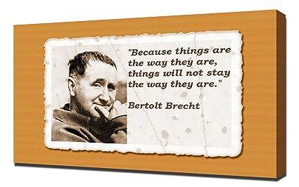 Amazon Com Bertolt Brecht Quotes 1 Canvas Art Print