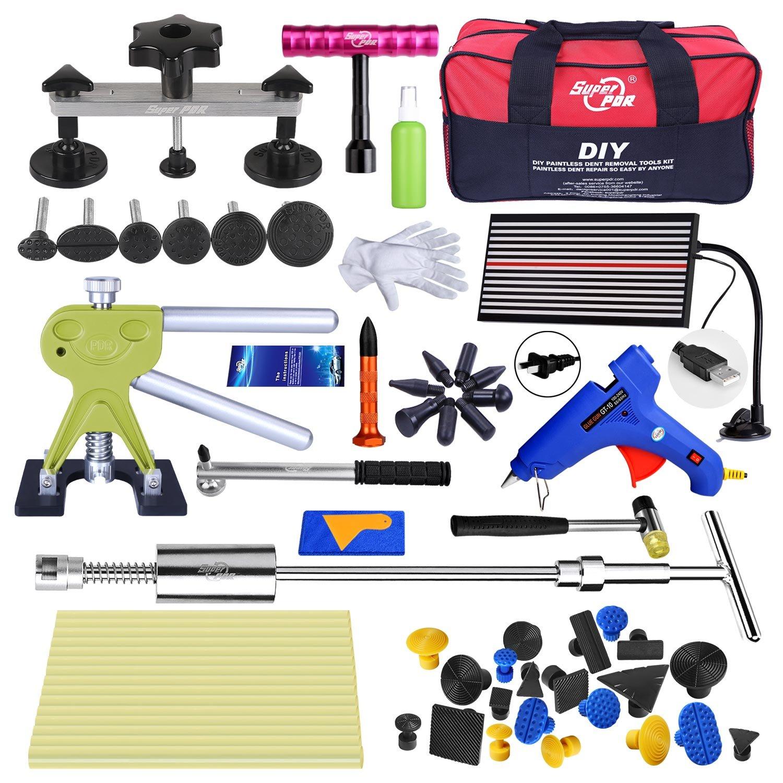 Fly5D Paintless Dent Removal Repair Tools Puller Sets Pull up Kit for Car Hail Damage Door Dings Repair