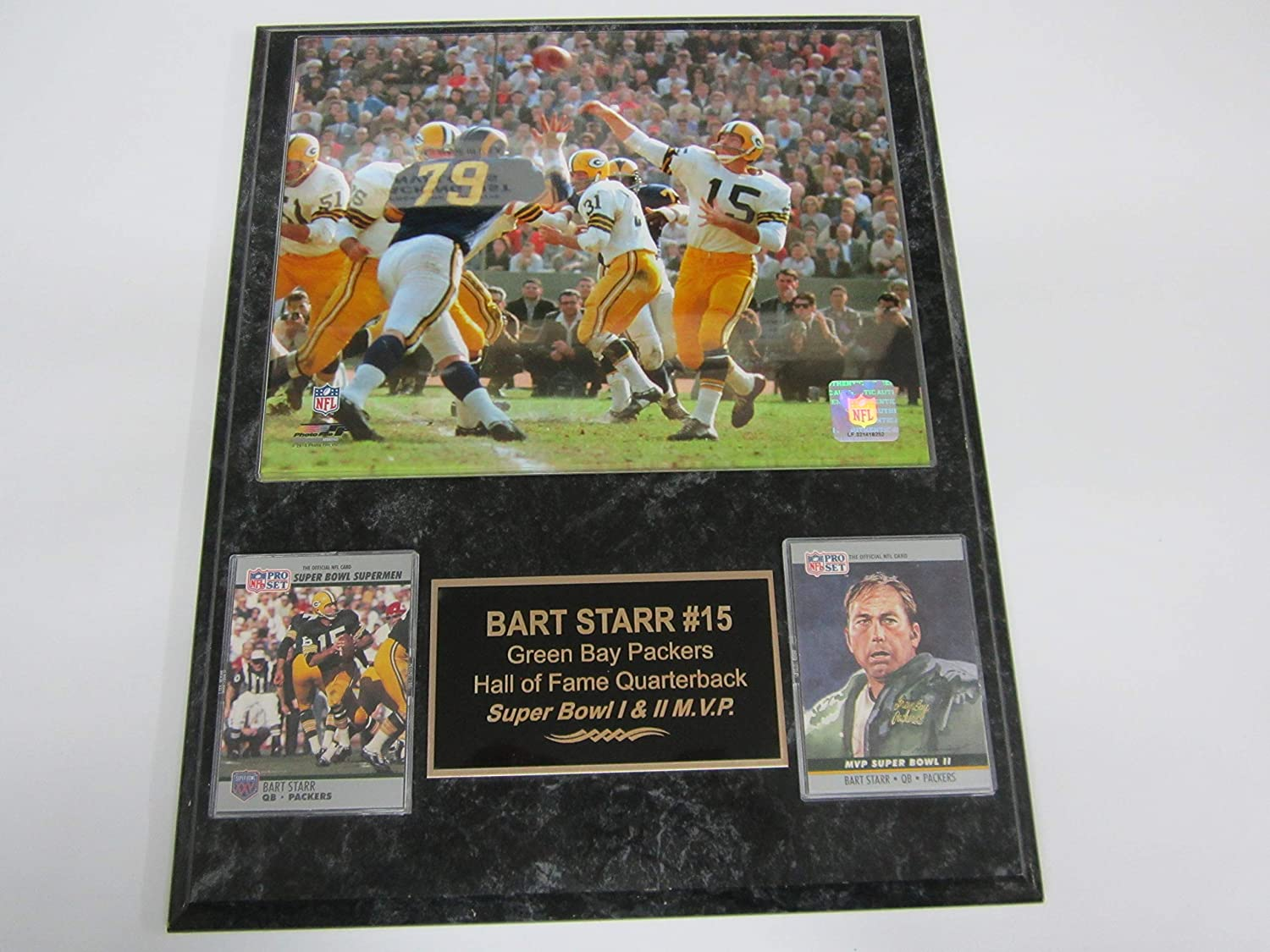 Bart Starr Green Bay Packers 2 Card Collector Plaque #3 w/8x10 Photo! 81MkDKUYD8L