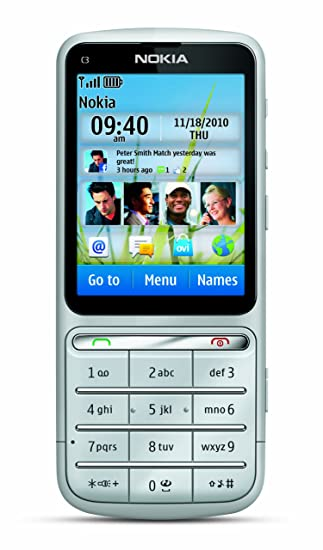 amazon com nokia c3 01 unlocked touch and type gsm phone u s rh amazon com Celular Nokia 2017 Nokia X2