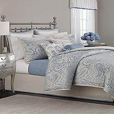 Martha Stewart Collection Gemstone Paisley 22 Piece King Comforter Set