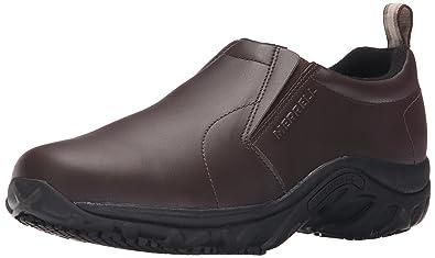 63b06982f7 Merrell Men's Jungle Moc Pro Grip Work Shoe, Espresso, 7 M US ...