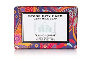 Lemongrass Goat Milk Soap - 100% Natural 5 oz. Bar