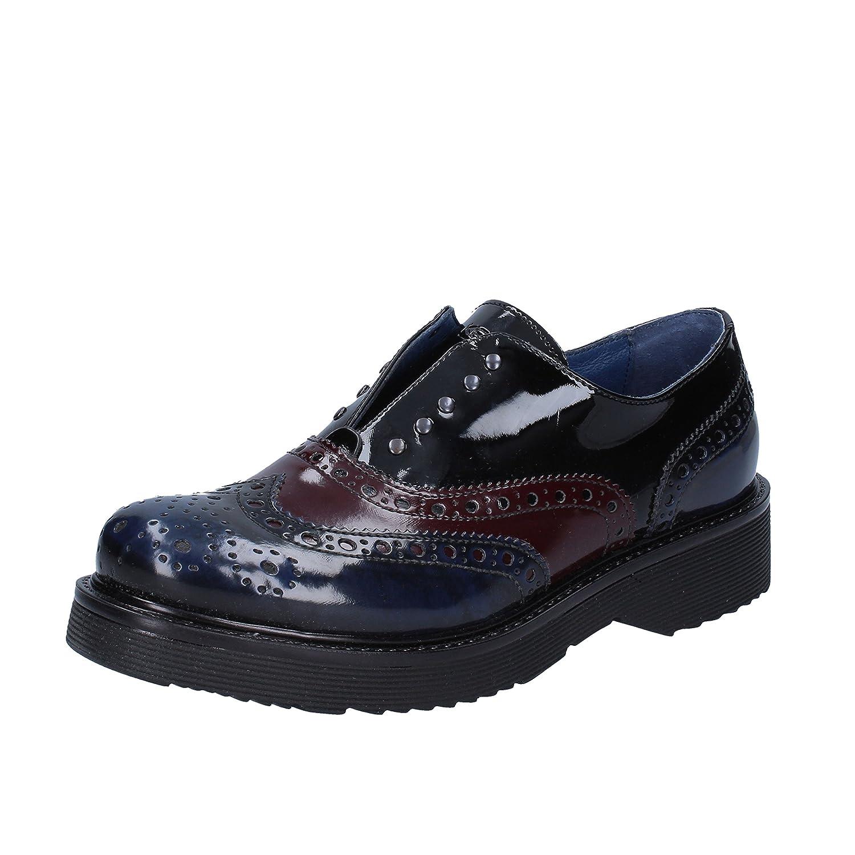 Keys Zapatos de Cordones Para Mujer Blu Bordeaux 39 EU