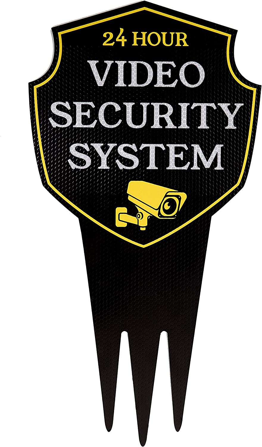 "Video Surveillance Yard Sign with Stake ""REFLECTIVE"" 