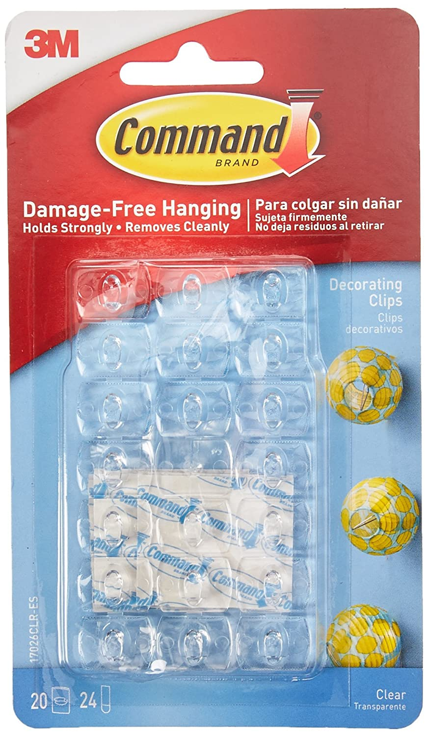 Amazon.com: Command 17026CLR-ES Decorating Clips, Clear, 20-Clips ...