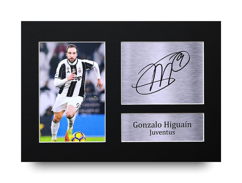 Gonzalo Higuain firmato A4stampato Autograph Juventus stampa foto immagine display–Great gift idea HWC Trading