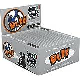 DUFF King Size Slim Papers-Zigarettenpapier-50 Heftchen a 32 Blatt, Zellstoff, Silber, 12 x 12 x 8 cm