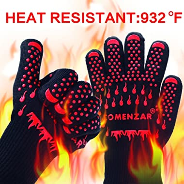 BBQ Gloves,Cooking Gloves Oven Mitts Heat Resistant Gloves for Kitchen Potholder and Outdoors by Comenzar