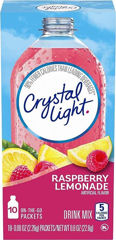 Crystal Light On The Go Raspberry Lemonade, 10-Count Boxes (Pack ...