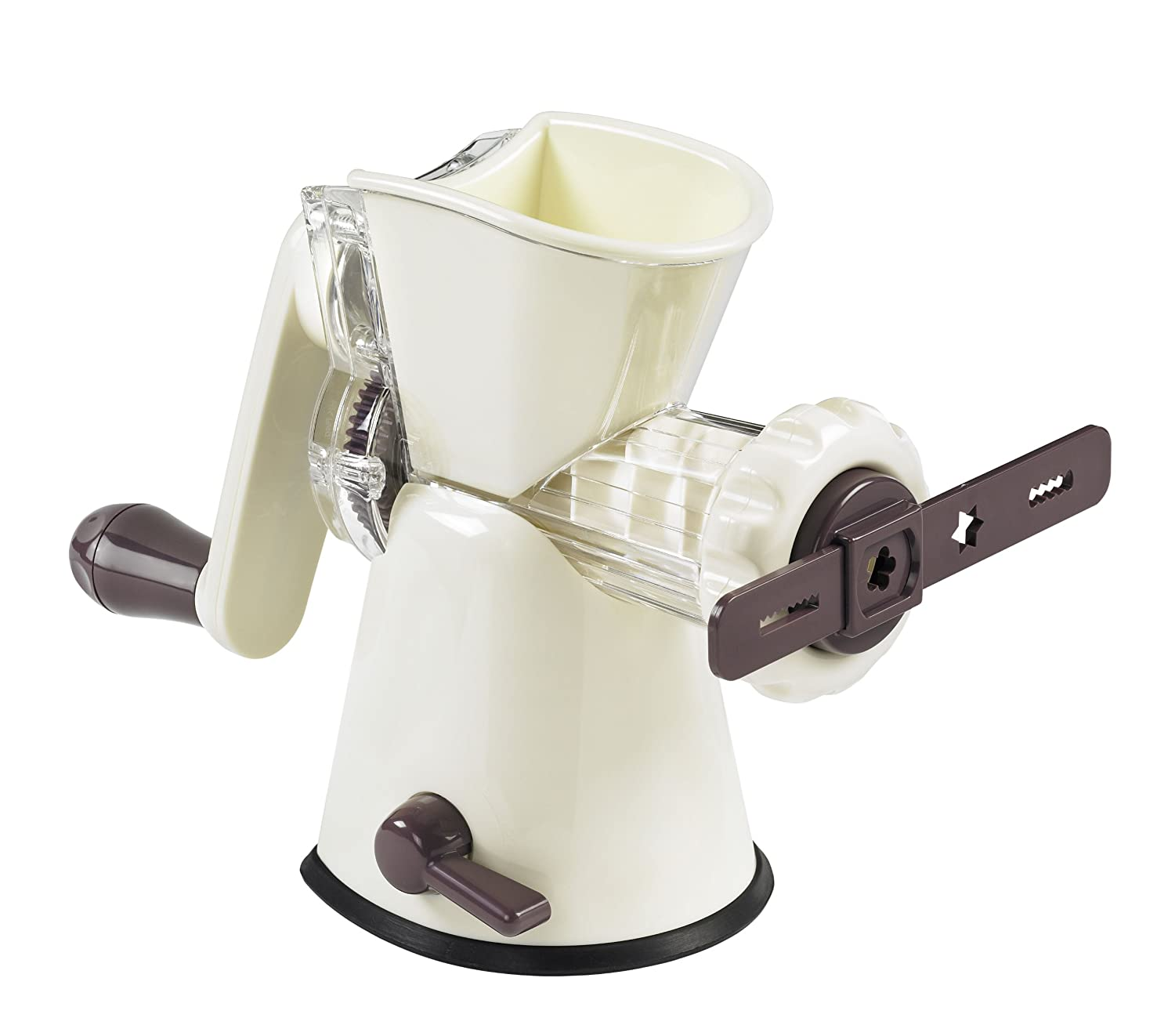 Lurch Germany Base&Soul Meat Mincer iron (Aubergine/Cream White)