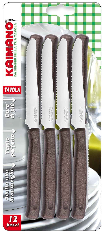 Kaimano Dynamic 12 Table Knife, Stainless Steel, Brown, 28 x 10 x 2 cm Fiskars KDN041512L