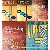 Physics Part 1 & 2, Chemistry Part -1 & 2 And Biology Textbook For Class - 12 ( Set Of 5 Books Ccombo )