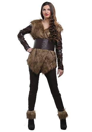 06f83b63 Amazon.com: Warrior Viking Womens Costume - L Browns: Clothing