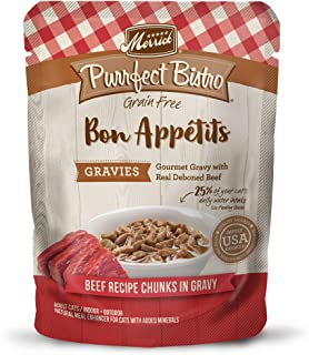 product image for Merrick Purrfect Bistro Bon Appetits Grain Free Adult Wet Cat Food, 3 oz. Pouches (Case of 24)
