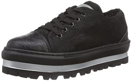 SHERA, Plateau Sneakers - Pantuflas de Material sintético Mujer, Color Negro, Talla 40 Fornarina