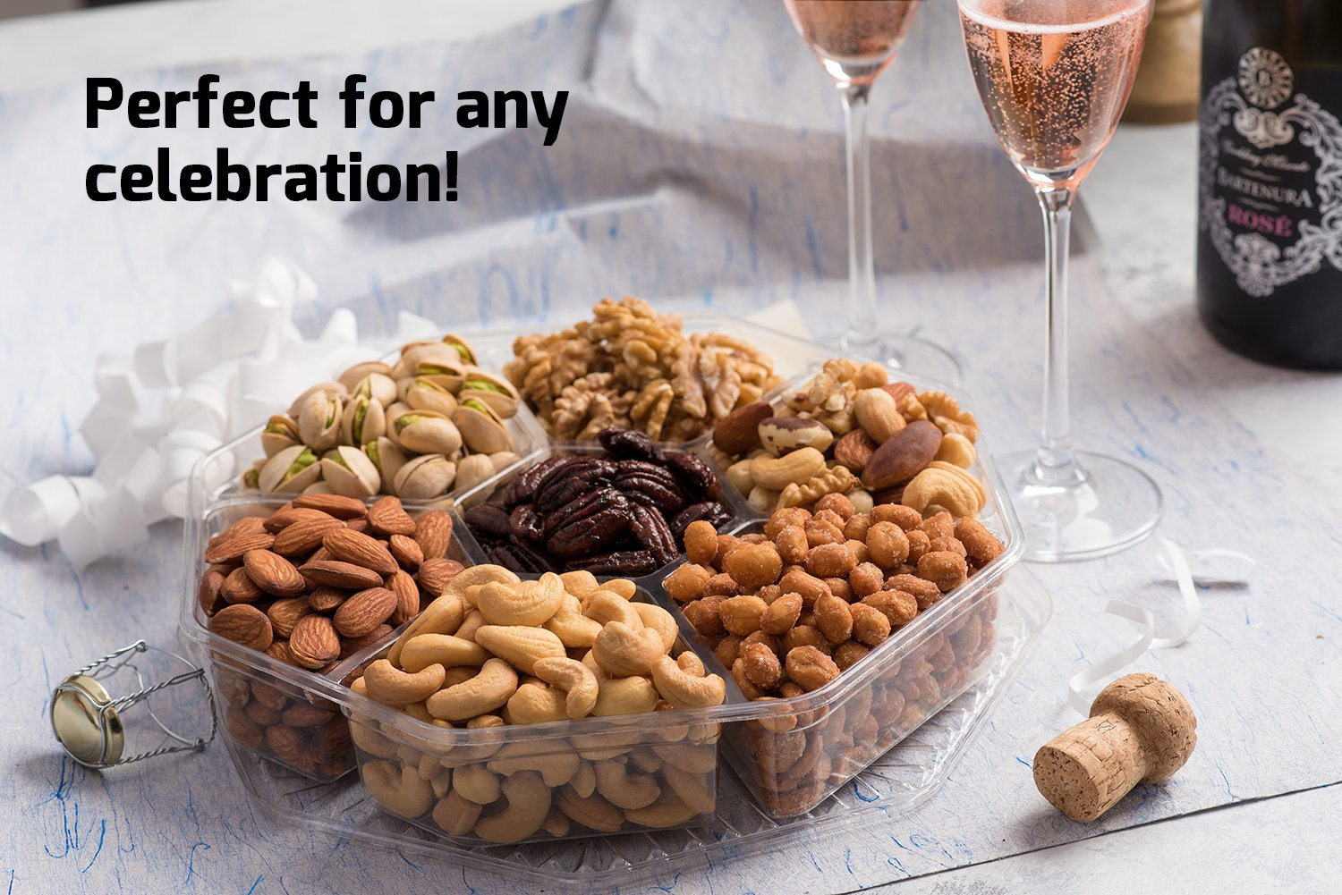 Mother's Day Nuts Gift Basket | Large 7-Sectional Delicious Variety Mixed Nuts Prime Gift | Healthy Fresh Gift Idea For Christmas, Easter, Mothers & Fathers Day, And Birthday by Nut Cravings (Image #5)