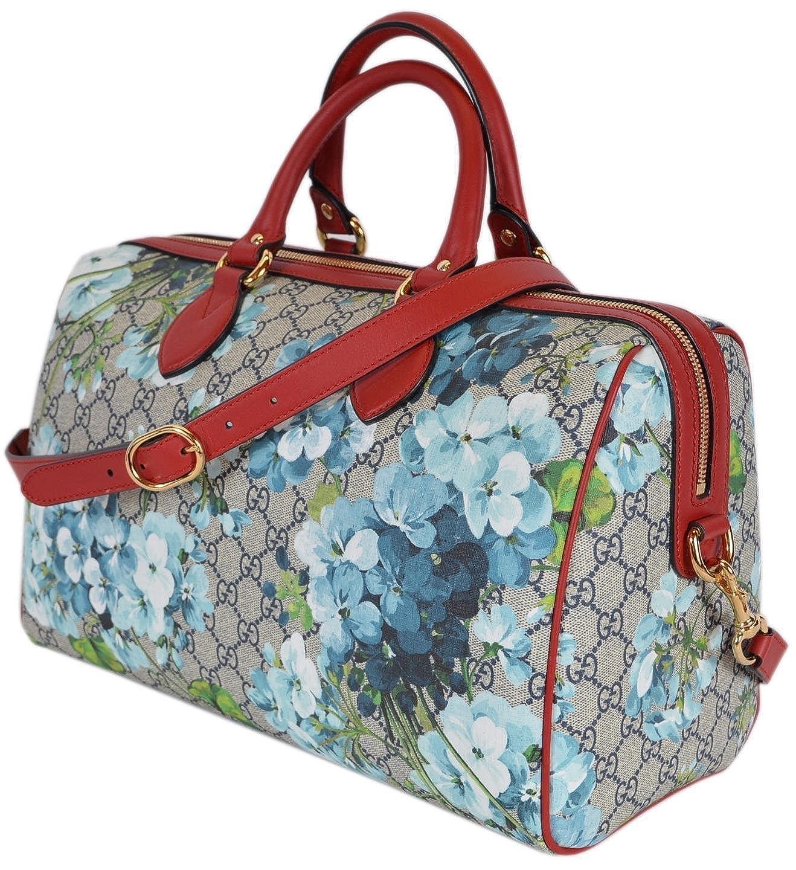 f90ac4c5f5ebd Amazon.com  Gucci Women s GG Supreme BLOOMS Convertible Boston Bag  Shoes