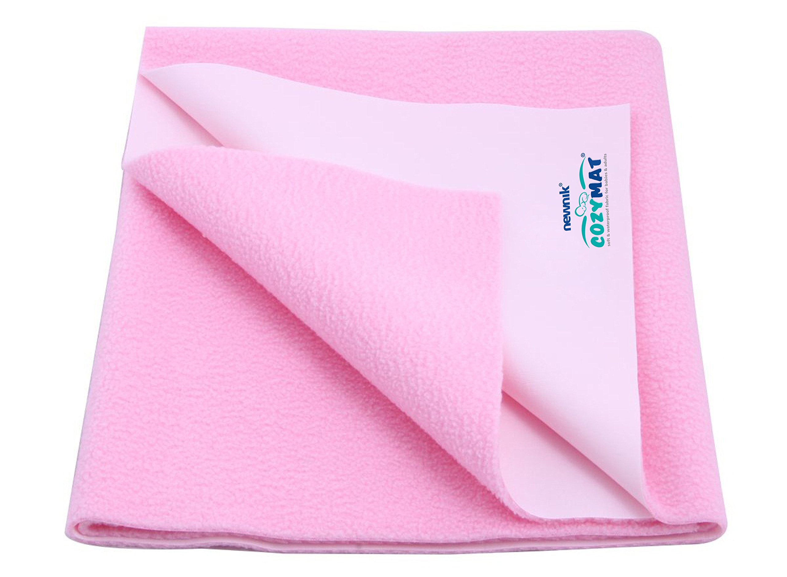 Cozymat Dry Sheet Waterproof Breathable Bed Protector (Size: 200cm X 260cm) Pink, Double Bed by cozymat